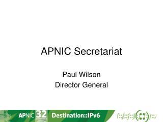 APNIC Secretariat