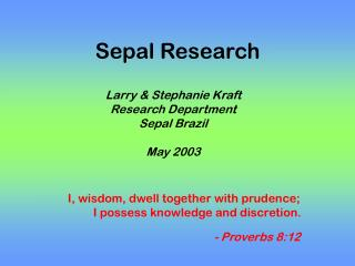 Sepal Research