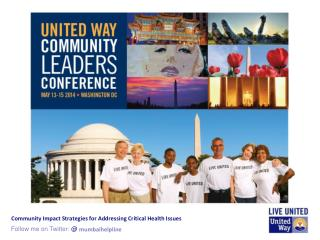 Community Impact Strategies for Addressing Critical Health Issues