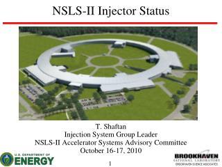 NSLS-II Injector Status
