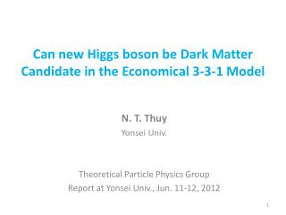 Can new Higgs boson  be Dark Matter  Candidate in the Economical 3-3-1 Model