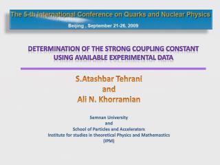 Determination of the strong coupling constant  using available experimental data