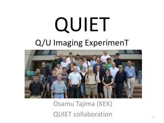 QUIET Q/U Imaging  ExperimenT