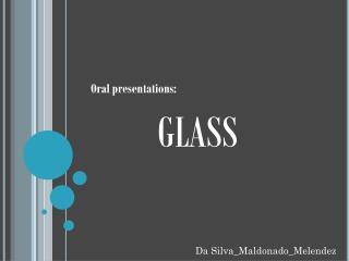 Oral presentations: