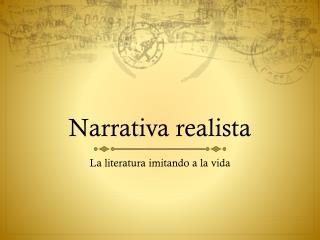 Narrativa realista