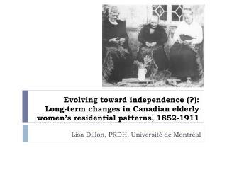 Lisa Dillon, PRDH, Université de Montréal