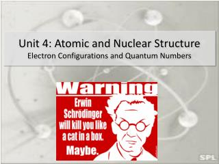 Unit 4: Atomic and Nuclear Structure Electron Configurations and Quantum Numbers