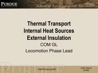 Thermal Transport Internal Heat Sources External Insulation