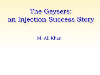 The Geysers: an Injection Success Story