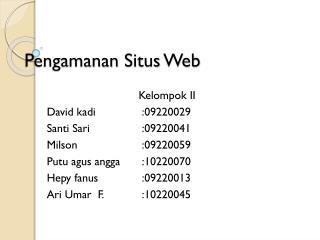 Pengamanan Situs  Web