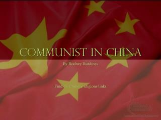 Communist in china