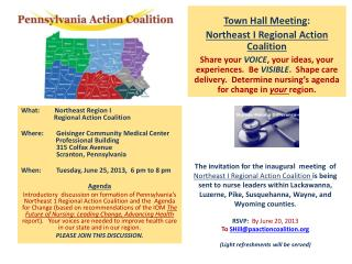 Town Hall Meeting : Northeast I Regional Action Coalition
