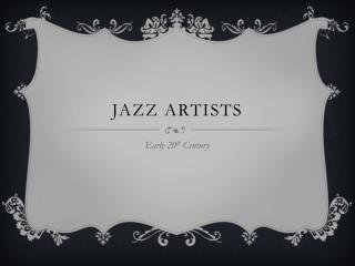 Jazz Artists