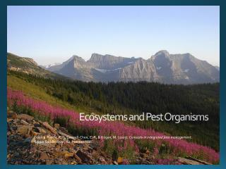 Ecosystems and Pest Organisms