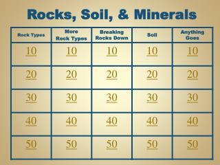 Rocks, Soil, & Minerals