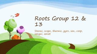 Roots Group 12 & 13