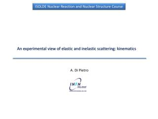 An experimental view of elastic and inelastic scattering: kinematics