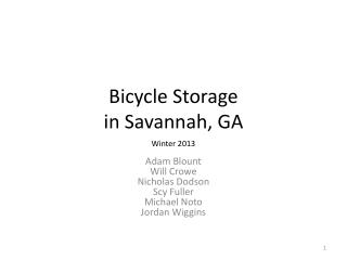 Bicycle Storage  in Savannah, GA