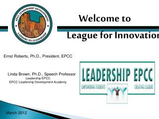 Welcome to  League for Innovation