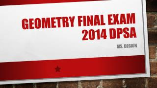Geometry Final Exam 2014 DPSA