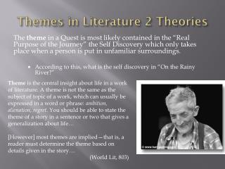 Themes in Literature 2 Theories
