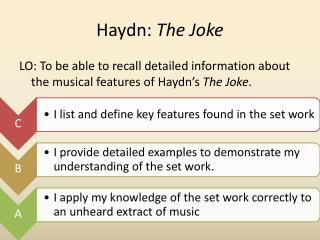 Haydn:  The Joke