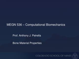 MEGN 536  – Computational Biomechanics