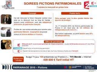 PARRAINAGE 2010 – Fictions