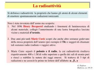 La  radioattività