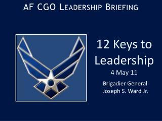 AF CGO Leadership Briefing