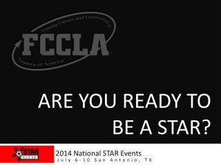 Are you ready to be a STAR?
