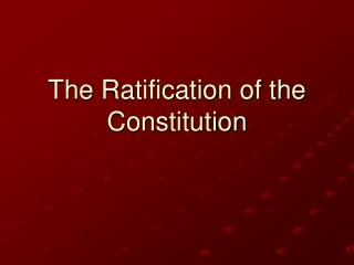 Debating the U.S. Constitution