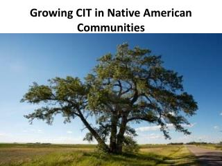 Growing CIT in Native American Communities