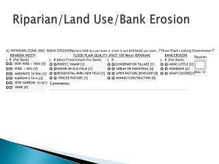 Riparian/Land Use/Bank Erosion