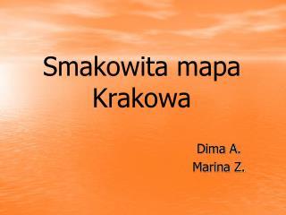 Smakowita mapa Krakowa