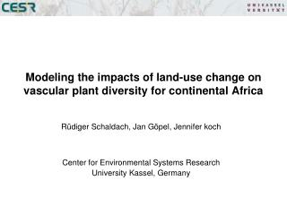 Modeling the impacts of land-use change on vascular plant diversity for continental Africa