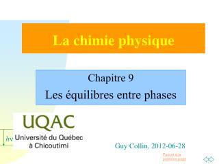 La chimie physique