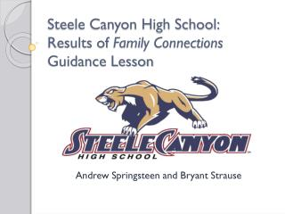 Steele  Canyon High School: Results of  Family Connections  Guidance Lesson