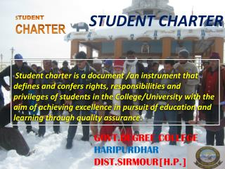 S TUDENT  CHARTER