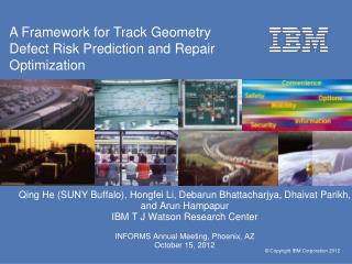 A Framework for Track Geometry Defect Risk Prediction and  Repair Optimization