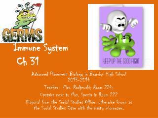 Immune System  Ch 31
