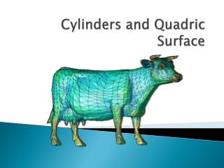 Cylinders and Quadric Surface