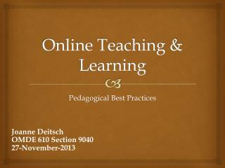 Online Teaching & Learning