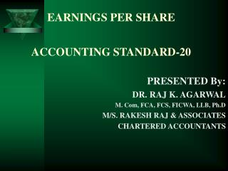 EARNINGS PER SHARE   ACCOUNTING STANDARD-20