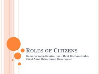 Roles of Citizens