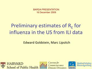 Preliminary estimates of R E  for influenza in the US from ILI data
