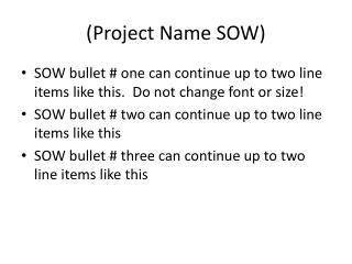 (Project Name SOW)