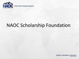 NAOC  Scholarship Foundation