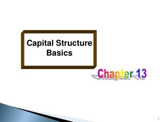Capital Structure Basics