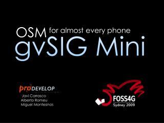 gvSIG  Mini